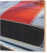 1969 Chevrolet Camaro Rs-ss Indy Pace Car Replica Grille - Hood Emblems Wood Print