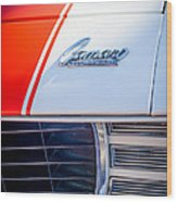 1969 Chevrolet Camaro Rs-ss Indy Pace Car Replica Hood Emblem Wood Print