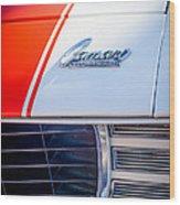 1969 Chevrolet Camaro Rs-ss Indy Pace Car Replica Hood Emblem Wood Print