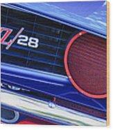 1969 Chevrolet Camaro Z28 Grille Emblem Wood Print