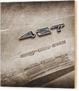1969 Chevrolet Corvette 427 Emblem Wood Print