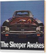 1969 Chevy Nova Ss - The Sleeper Awakes Wood Print