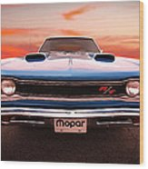 1969 Dodge Coronet R/t In B5 Blue Wood Print