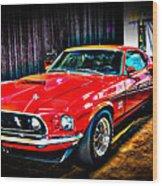 1969 Ford Boss 429 Mustang Wood Print