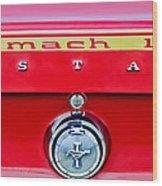 1969 Ford Mustang Mach 1 Rear Emblems Wood Print