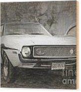 1969 Ford Mustang Wood Print
