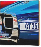 1969 Ford Mustang Shelby Gt350 Grille Emblem Wood Print