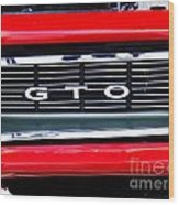 1969 Gto Grill Wood Print