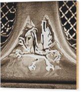 1969 Iso Grifo Emblem Wood Print
