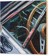 1969 Lamborghini Islero Steering Wheel Emblem Wood Print