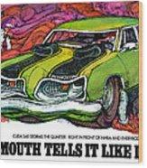 1969 Plymouth 'cuda 340 Wood Print