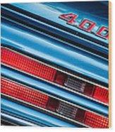 1969 Pontiac 400 Firebird Convertible Taillight Emblem -0029c Wood Print