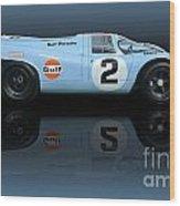 1969 Porsche 917k Gulf Daytona Winner Wood Print