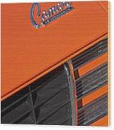 1969 Rs-ss Chevrolet Camaro Grille Emblem Wood Print