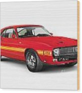 1969 Shelby Cobra Gt 500 Retro Sports Car Wood Print