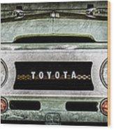 1969 Toyota Fj-40 Land Cruiser Grille Emblem -0444ac Wood Print