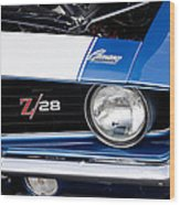 1969 Z28 Camaro Real Muscle Car Wood Print
