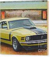 1970 Boss 302 Mustang Wood Print