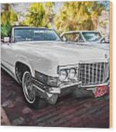 1970 Cadillac Coupe Deville Convertible Painted  Wood Print