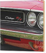 1970 Challenger Grill Wood Print