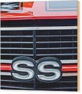 1970 Chevrolet Chevelle Ss 454 Grille Emblem Wood Print by Jill Reger