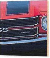 1970 Chevrolet El Camino Ss Grille Emblem Wood Print