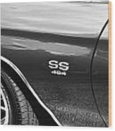 1970 Chevy Chevelle 454 Ss Bw  Wood Print