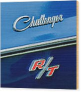 1970 Dodge Challenger Rt Convertible Emblem Wood Print by Jill Reger