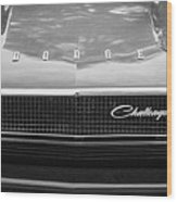 1970 Dodge Challenger Rt Convertible Grille Emblem -0545bw Wood Print