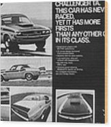 1970 Dodge Challenger T/a Wood Print