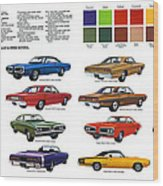 1970 Dodge Coronet Models And Colors Wood Print