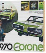 1970 Dodge Coronet R/t Wood Print