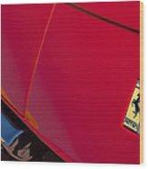 1971970 Ferrari 365 Gtb-4 Daytona Berlinetta Hood0  Ferrari 365 Gtb-4 Daytona Berlinetta Hood Emblem Wood Print