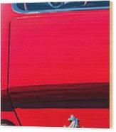 1970 Ferrari 365 Gtb-4 Daytona Berlinetta Taillight Emblem -1482c Wood Print