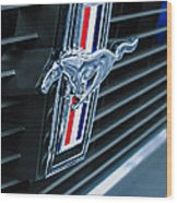 1970 Ford Mustang Boss 302 Fastback Grille Emblem Wood Print