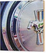 1970 Ford Mustang Mach 1 Emblem Wood Print