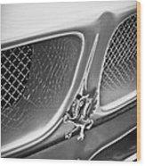 1970 Iso Rivolta Grifo Emblem  -0146bw Wood Print
