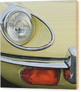 1970 Jaguar Xk Type-e Headlight Wood Print