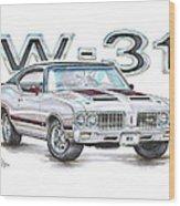 1970 Oldsmobile W-31 Wood Print