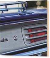 1970 Plum Crazy Purple Plymouth 'cuda Wood Print