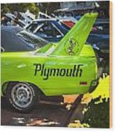 1970 Plymouth Road Runner Hemi Super Bird  Wood Print