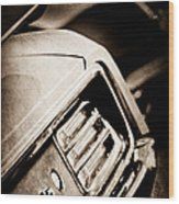 1970 Pontiac Barracuda Cuda Taillight Emblem Wood Print