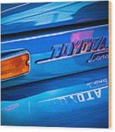 1970 Toyota Land Cruiser Fj40 Hardtop Emblem Wood Print