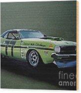 1970's Challenger Race Car Wood Print
