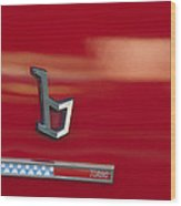 1971 Alfa Romeo Montreal Emblem Wood Print