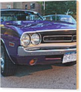 1971 Challenger Front And Side View Wood Print