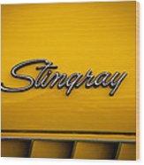 1971 Chevrolet Corvette Stingray Emblem Wood Print