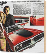1971 Dodge Charger Rallye Wood Print