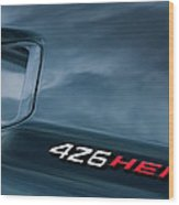 1971 Dodge Hemi Challenger Rt 426 Hemi Emblem Wood Print