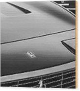1971 Ferrari 365 Gtc-4 Grille Emblem -1541bw Wood Print